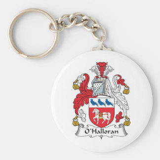 O'Halloran Family Crest Basic Round Button Key Ring