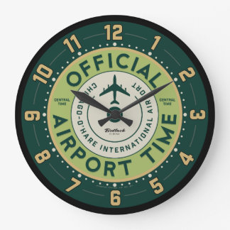 O'Hare Airport Retro Clock