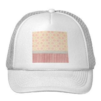 OhBaby GIRLY PINK CREAM DECORATIVE BACKGROUND PATT Hat