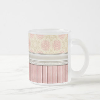 OhBaby GIRLY PINK CREAM DECORATIVE BACKGROUND PATT Coffee Mugs