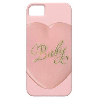 OhBaby PASTEL PINK HEART LOVE MOTIVATIONAL NEWBORN iPhone 5/5S Covers