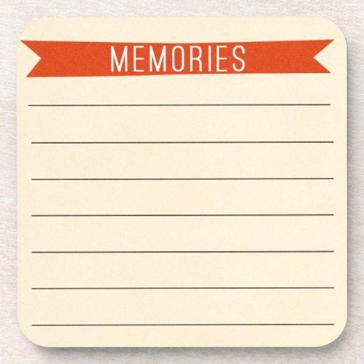 OhBabyBaby_memories-journal-card SCRAP BOOKING MEM Coasters