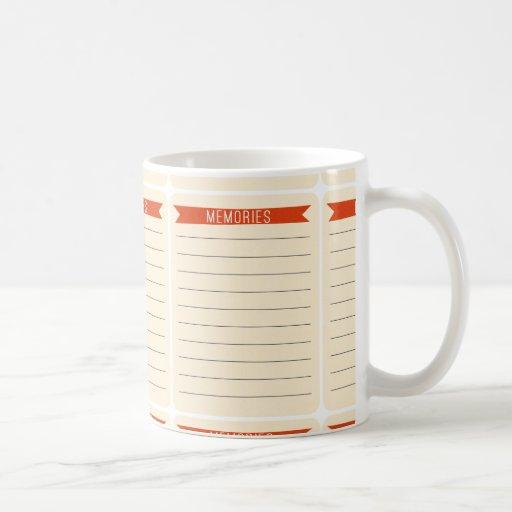 OhBabyBaby_memories-journal-card SCRAP BOOKING MEM Coffee Mugs