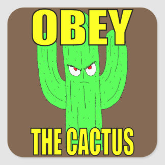 Ohbey The Cactus Square Sticker