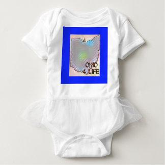 """Ohio 4 Life"" State Map Pride Design Baby Bodysuit"