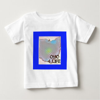 """Ohio 4 Life"" State Map Pride Design Baby T-Shirt"