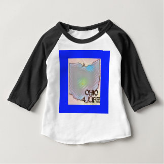 """Ohio 4 Life"" State Map Pride Design Baby T-Shirt"
