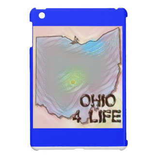 """Ohio 4 Life"" State Map Pride Design iPad Mini Covers"