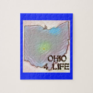 """Ohio 4 Life"" State Map Pride Design Jigsaw Puzzle"