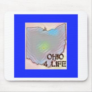 """Ohio 4 Life"" State Map Pride Design Mouse Pad"
