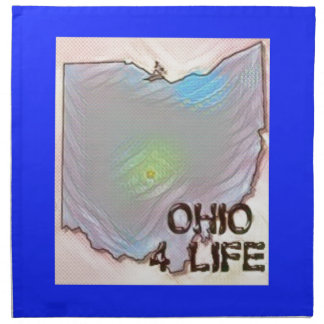 """Ohio 4 Life"" State Map Pride Design Napkin"
