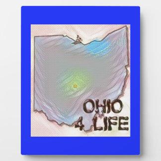 """""""Ohio 4 Life"""" State Map Pride Design Plaque"""