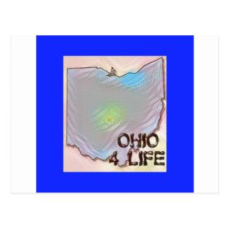 """Ohio 4 Life"" State Map Pride Design Postcard"