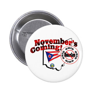 Ohio Anti ObamaCare – November's Coming Pinback Buttons