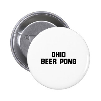 Ohio Beer Pong Pinback Button