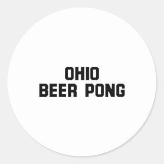 Ohio Beer Pong Round Sticker
