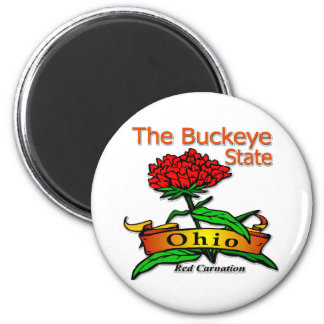 Ohio Buckeye State Red Carnation Magnets