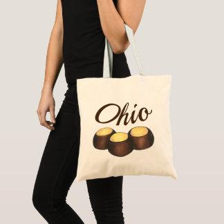 Ohio Chocolate Peanut Butter Buckeye Nut Candy OH Tote Bag