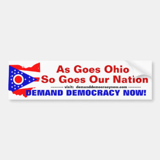 Ohio Demands Democracy Bumper Sticker