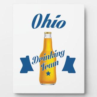 Ohio Drinking team Plaque