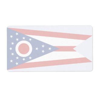 Ohio Faint Flag Shipping Label