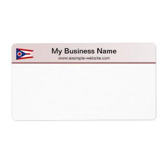 Ohio Flag Header Shipping Label