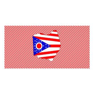 Ohio Flag Map Photo Cards