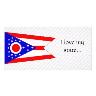 Ohio Flag Custom Photo Card
