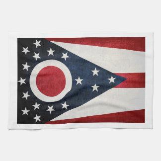 Ohio Flag Tea Towel