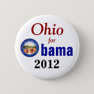 Ohio for Obama 2012 6 Cm Round Badge