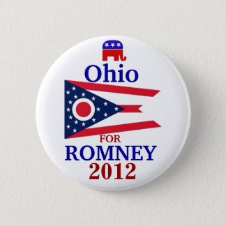 Ohio for Romney 2012 6 Cm Round Badge