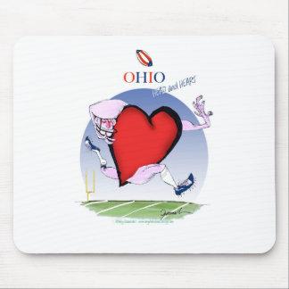 ohio head heart, tony fernandes mouse pad