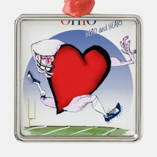 ohio head heart, tony fernandes Silver-Colored square decoration