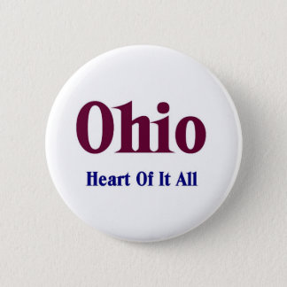 Ohio- Heart of it all 6 Cm Round Badge