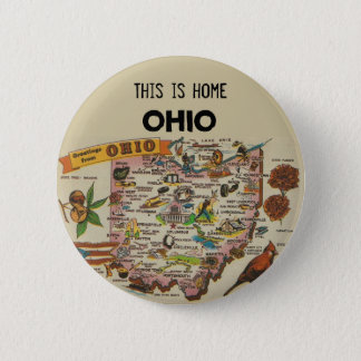 Ohio Home 6 Cm Round Badge