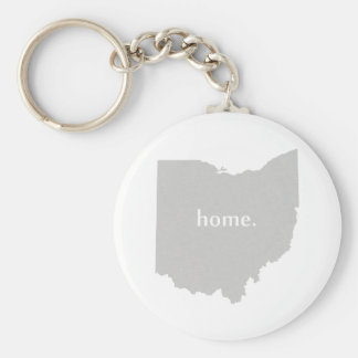 Ohio home silhouette state map basic round button key ring
