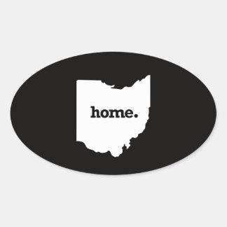 Ohio Home Oval Sticker