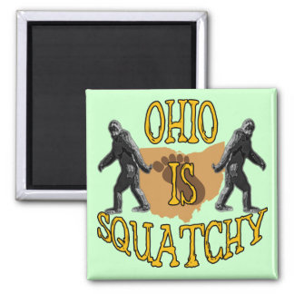 Ohio Is Squatchy Square Magnet