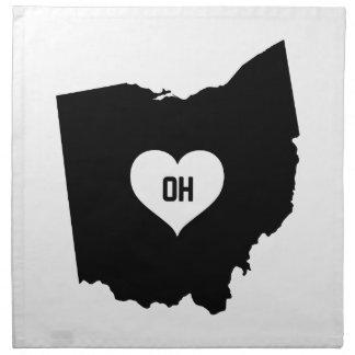 Ohio Love Napkin