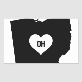 Ohio Love Rectangular Sticker
