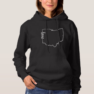 Ohio Love State Silhouette Hoodie
