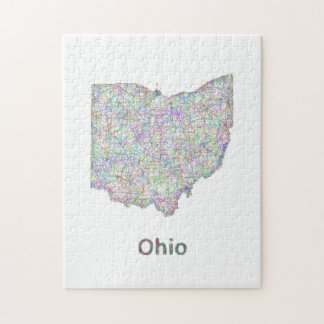 Ohio map jigsaw puzzle