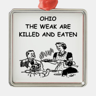 OHIO METAL ORNAMENT
