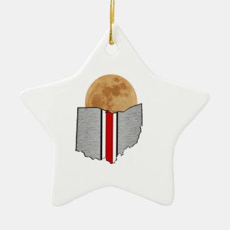 Ohio Moonlight Ceramic Ornament