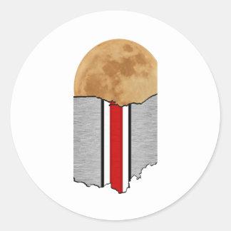 Ohio Moonlight Classic Round Sticker
