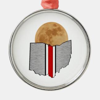 Ohio Moonlight Metal Ornament