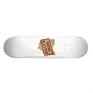 Ohio Native Stamped on Map Skate Board Decks