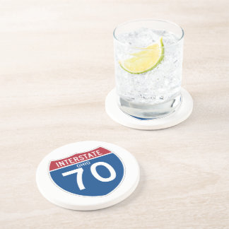 Ohio OH I-70 Interstate Highway Shield - Coaster