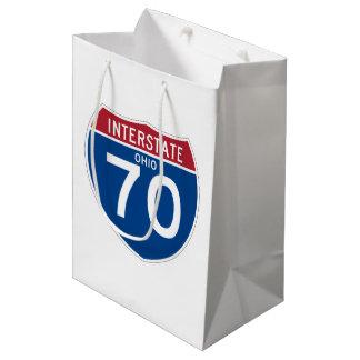 Ohio OH I-70 Interstate Highway Shield - Medium Gift Bag