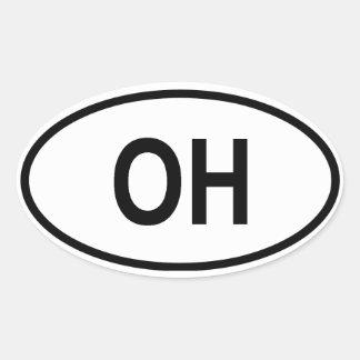 "Ohio ""OH"" Oval Sticker"